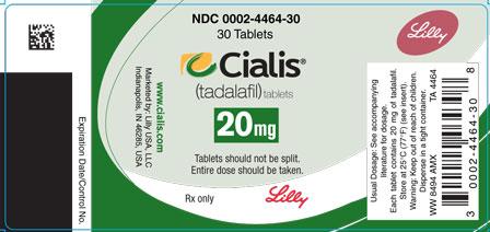 cialis label