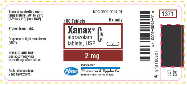 xanax pill label