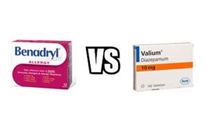 Benadryl vs Valium