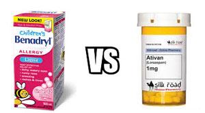 Benadryl vs. Ativan