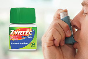 Effect of Zyrtec over asthma