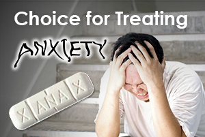 Xanax is the choice for treating anxiety