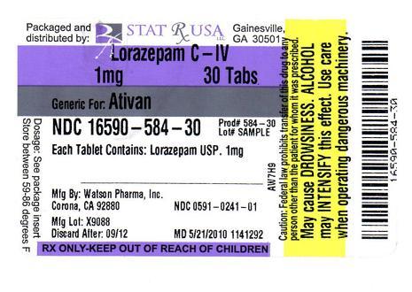ativan pill label