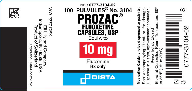 prozac label