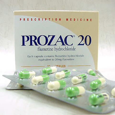 prozac pills box
