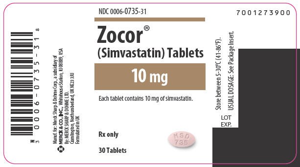 zocor label