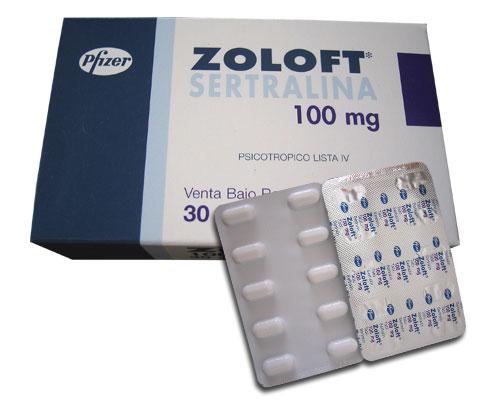 zoloft pills box