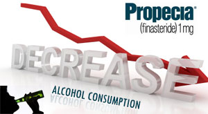 Propecia decreases alcohol consumption