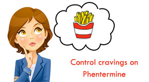 control cravings on Phentermine