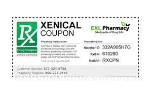 Xenical coupons and promo codes