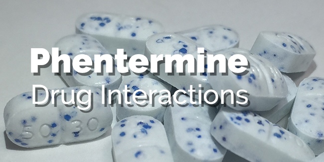 Phentermine drug interactions